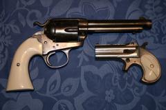 duo revolver et Derringer ivoire